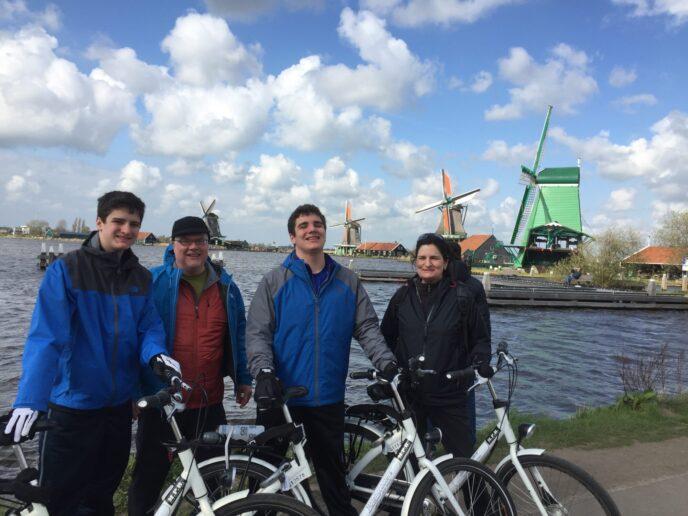 Windmill bike tour Amsterdam Zaanse Schans