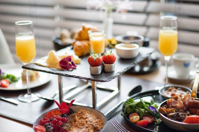 Luxury breakfast luxury suite hotel